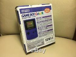 Nouveau Console De Couleur Nintendo Game Boy Inutilisée Mauve Gbc Japan F / S