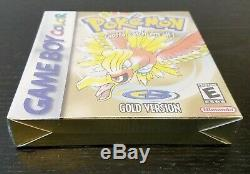 Nouveau Impeccable Pokémon Or Scellé En Usine Gameboy Color Authentique Rare