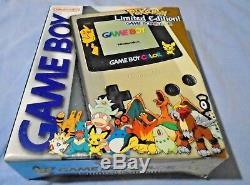 Nouveau Nintendo Game Boy Color Pokemon Center Édition Limitée Or Et Argent