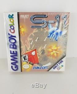 Nouveau! Projet S-11 Nintendo Game Boy Couleur Usine Scellé