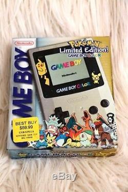 Nouveau Sealed Gameboy Color Pokemon Édition Limitée Or Et Argent