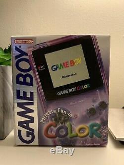 Nouveau Système De Poche Nintendo Game Boy Color Atomic Pourpre