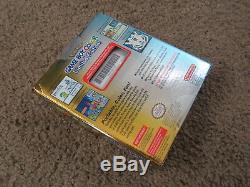 Nouveau Système De Poche Nintendo Game Boy Color Pokemon Limited Edition Or