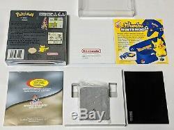 Pokemon Argent Complet En Boîte Minty Nintendo Game Boy Color Gba Sp Authentique