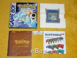 Pokemon Blu Completo Batteria Ok Jeu Nintendo Gameboy Advance Couleur Boy Gba