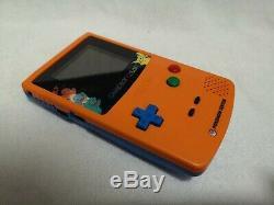 Pokemon Center Gameboy Color Game Boy Orange Limited Edition + Supplémentaire Nouveau Mint
