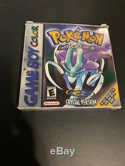 Pokemon Cristal Version Complète Dans Box Cib Avec Le Guide (game Boy Color, 2001)