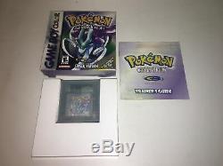 Pokemon Crystal Nintendo Game Boy Game Boy Color Complet + Authentique + Nouvelle Batterie