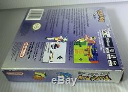 Pokemon Crystal Nintendo Gameboy Couleur Gbc Cib Complete In Box Nouveau Save Battery