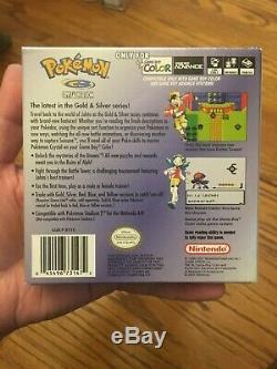Pokemon Crystal Version (couleur Du Game Boy, 2001) Cib Très Bien