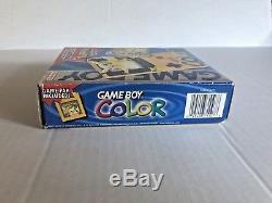 Pokemon Game Boy Color Pak Jaune Pikachu Box Système De Poche Système Authentic