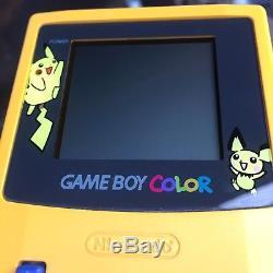 Pokemon Game Boy Couleur Console & Jaune & Stratégie Guide Bundle Nintendo