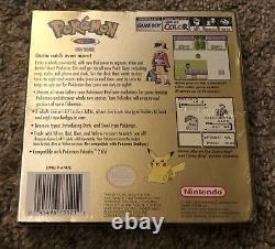 Pokemon Gameboy Color / Gbc Or Version Scellé En Usine Nintendo Game Boy