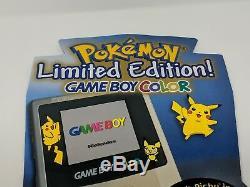 Pokemon Gold Argent Gameboy Couleur Gbc Promo Boutique Présentoir Signe Le Vtg