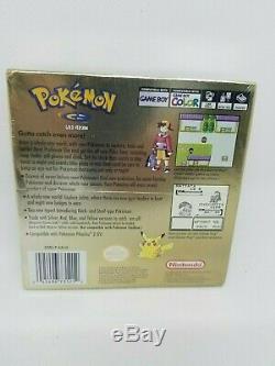 Pokemon Gold Version Couleur Nouveau Rare Gameboy Factory Scellé Game Boy Case H Seam