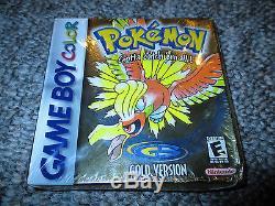 Pokémon Gold Version Nintendo Game Boy Couleur Brand New Scellé Gbc Complet
