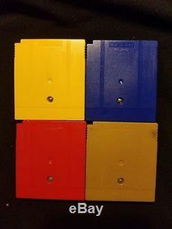 Pokemon Jaune Nintendo Gameboy Couleur Pokemon Jaune Bleu Rouge & Or Lot De Jeu