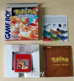 Pokemon Rosso Version Rossa Game Boy Color Pal Italien Completo Originale Raro
