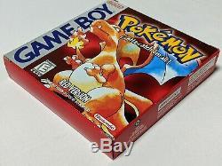Pokemon Rouge Complète En Boîte De Couleur Minty Nintendo Game Boy Gba Sp Cib Authentique