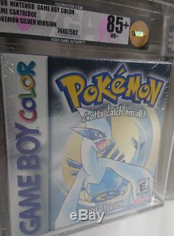 Pokemon Silver Game Boy Couleur Vga Near Mint 85+ Jeu Pokemon Scellé Vintage