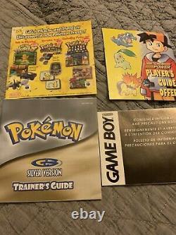 Pokemon Version Argent Cib (game Boy Color, 2000) Original Complet En Boîte Rare