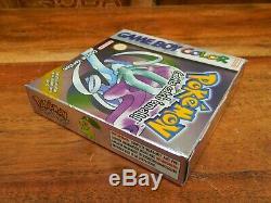 Pokemon Version Cristal Pour Nintendo Gameboy Color Couleur Boxed Et Complète