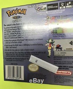 Pokemon Version Crystal Game Boy Color Jeu Authentique Us Version Scellé En Usine
