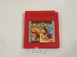 Pokemon Version Rouge 100% Complète Cib Saves Nintendo Gameboy Color Game Boy