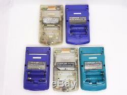 Pour Les Parties! Lot De 10 Pièces Set Nintendo Gameboy Console Couleur Système Gbc # 1457