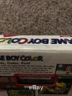 Rare Collectionneur De Nintendo Game Boy Color Berry Article Brand New Vintage Scellé