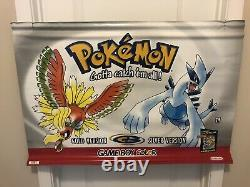 Rare! Couleur Authentique Pokémon Or Nintendo Gameboy Promo Magasin Afficher Bannière