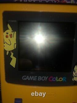 Rare Factory Nintendo Gameboy Color Pokemon Pikachu Yellow Edition Europe Utilisé