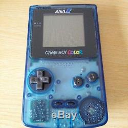 Rare Game Boy Couleur Ana Bleu Clair Edition Boxed Japan F / S