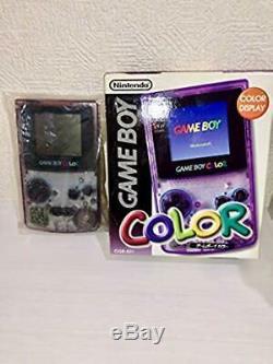 Rare Gameboy Color Console Violet Japon Collectionneurs Article Nouveau