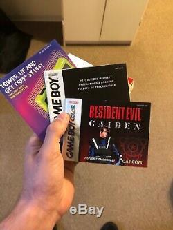 Resident Evil Gaiden Avec Livret Nintendo Game Boy Color 2002 Original En Boîte