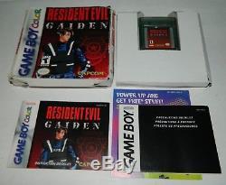 Resident Evil Gaiden (nintendo Game Boy Couleur) Gbc Cib Complete