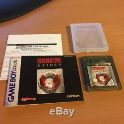 Resident Evil Gaiden (nintendo Game Boy Couleur) Pal Cib Complete Livraison Gratuite