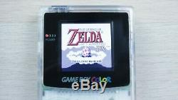 Rétro-éclairage Game Boy Color! Mcwill LCD Gameboy Color Modded Avec Lentille En Verre! Violet