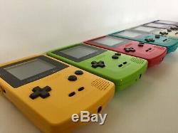Rétro-éclairage Gameboy Couleur Raisin Violet, Écran En Verre Nintendo Gbc Backlit