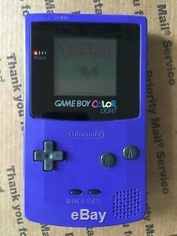 Rétro-éclairé Gameboy Color Freckleshack-bennvenn Modded Gbc Jeu De Cartes À Collectionner Pokemon