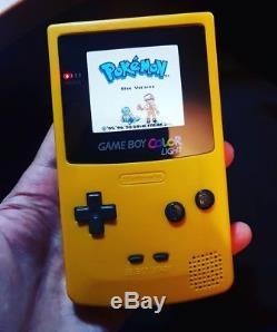 Rétro-éclairé Nintendo Game Boy Couleur Pissenlit Jaune Gbc 101