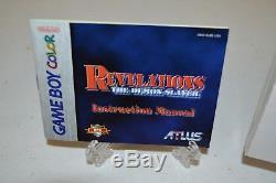 Revelations Le Rpg Demon Slayer (nintendo Game Boy Color, 1999) Gbc Complete