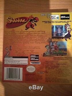 Shantae Gameboy Color (couleur) Gbc Jeu Boxed Mint Condition