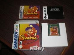 Shantae Pour Nintendo Game Boy Manuel De Jeu En Couleur D'origine Complete Avec Box Rare