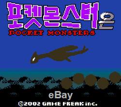 Super Rare Nintendo Game Boy Color Monstre De Poche En Argent Coréenne Pokemon Version