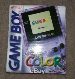 Système De Poche Bnib Sealed Nintendo Game Boy Color Atomic Violet Nouveau