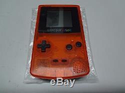 Système Game Boy Color Clear Orange & Noir Daiei Hawks Nintendo Japon Good