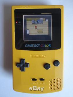 Système Portable Ags 101 Nintendo Game Boy Color Edition Jaune
