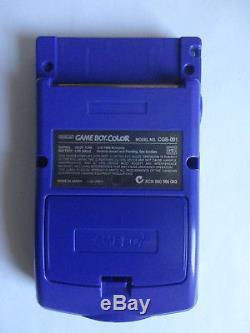 Système Portable Ags 101 Nintendo Game Boy Couleur Raisin Violet Système De Poche Backlay