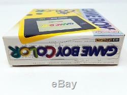 Système Portatif De Pissenlit Jaune De Nintendo Game Boy Color Limited Nouveau Scellé